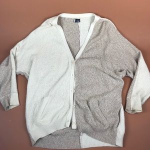 Sparkle and fade cozy color block cardigan